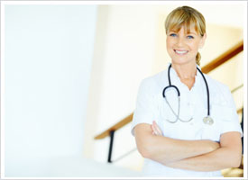 proud nurse on the job