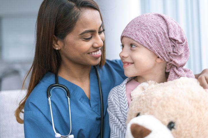 Nurse and patient in Nurse practitioner residency program setting