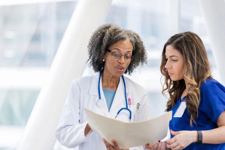 clinical nurse leader giving instruction