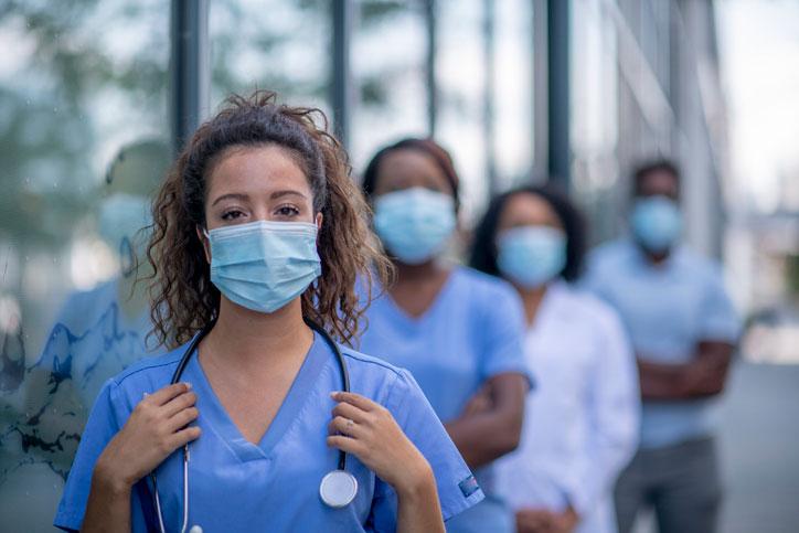 registered nurse group outside